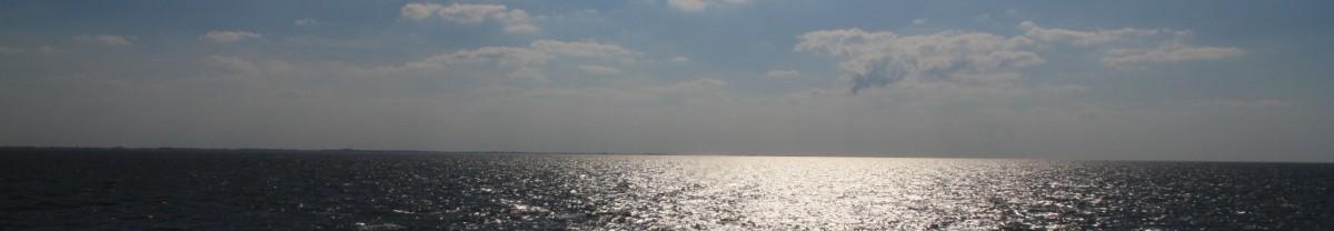 Die Nordsee mit Sonnenspiegelung